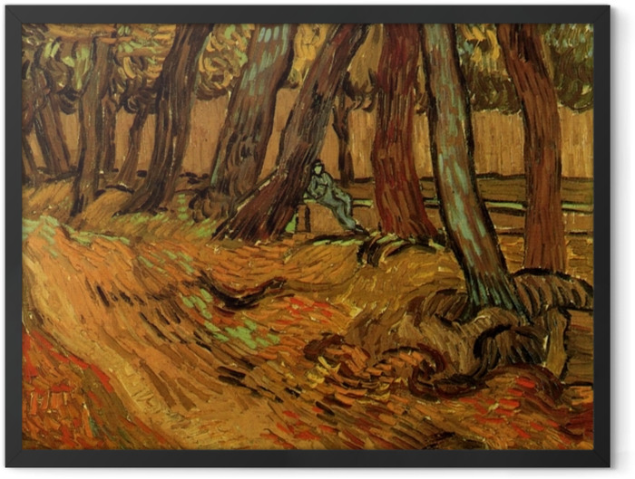Plakat w ramie Vincent van Gogh - Ogród szpitala św. Pawła - Reproductions