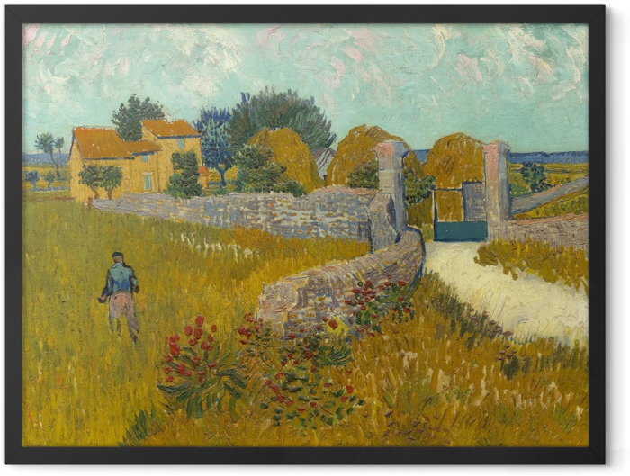 Poster en cadre Vincent van Gogh - Champ de blé - Reproductions