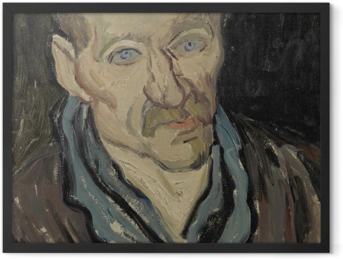 Gerahmtes Poster Vincent van Gogh - Bildnis eines Patienten im Hospital Saint-Paul - Reproductions