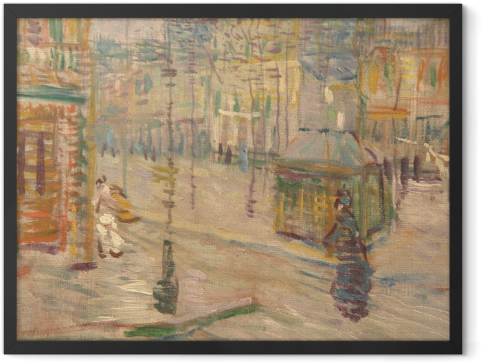 Gerahmtes Poster Vincent van Gogh - Boulevard de Clichy - Reproductions