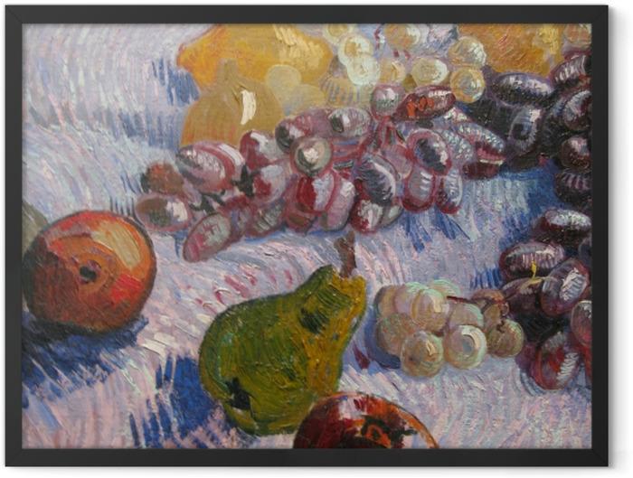 Gerahmtes Poster Vincent van Gogh - Trauben, Zitronen, Birnen und Äpfel - Reproductions