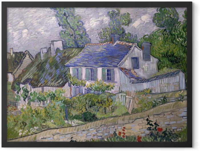Gerahmtes Poster Vincent van Gogh - Häuser in Auvers - Reproductions