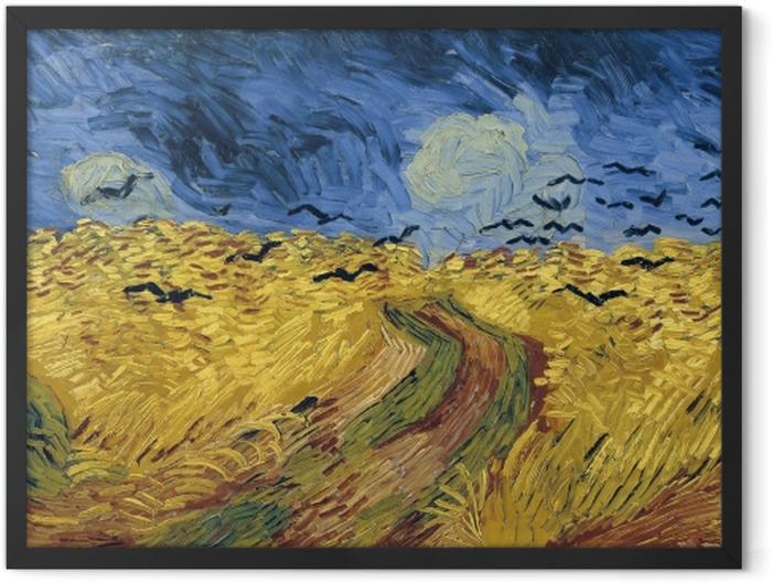 Poster en cadre Vincent van Gogh - Champ de blé aux corbeaux - Reproductions