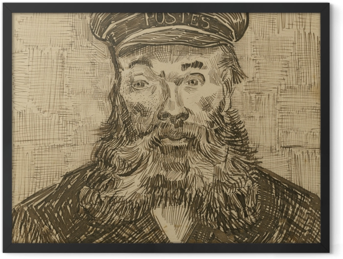 Poster en cadre Vincent van Gogh - Le facteur Joseph Roulin - Reproductions
