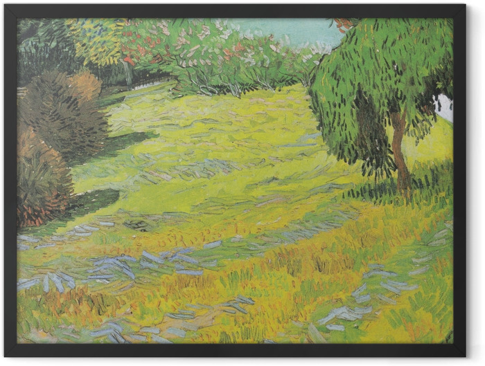 Gerahmtes Poster Vincent van Gogh - Sonniger Rasen in einem öffentlichen Park - Reproductions