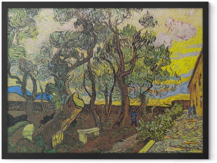 Plakat w ramie Vincent van Gogh - Ogród w szpitalu św. Pawła - Reproductions
