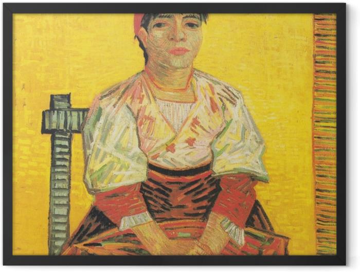 Poster en cadre Vincent van Gogh - I'Italienne - Reproductions