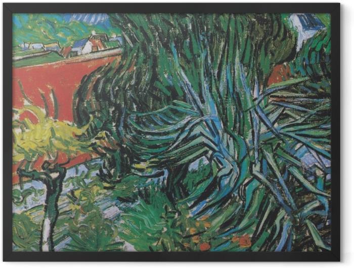 Plakat w ramie Vincent van Gogh - Ogród dr. Gacheta w Auvers - Reproductions