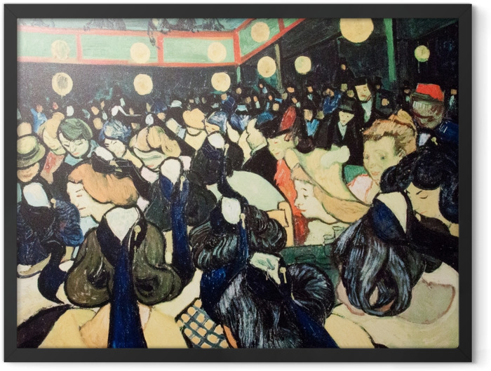 Gerahmtes Poster Vincent van Gogh - Tanzsaal in Arles - Reproductions