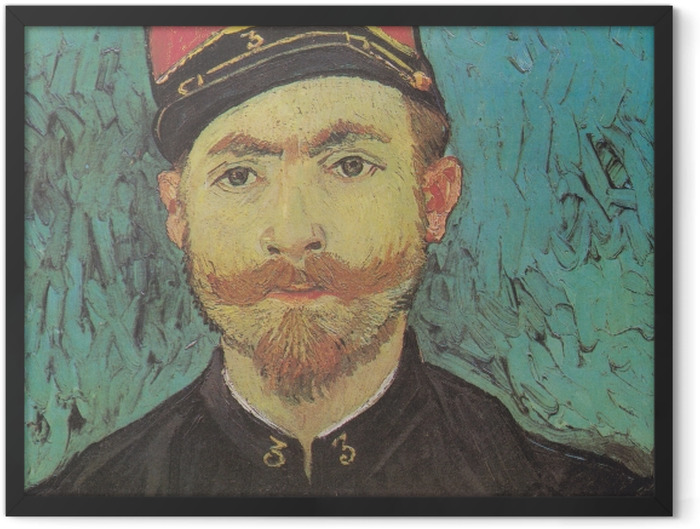 Plakat w ramie Vincent van Gogh - Portret Milleta - Reproductions