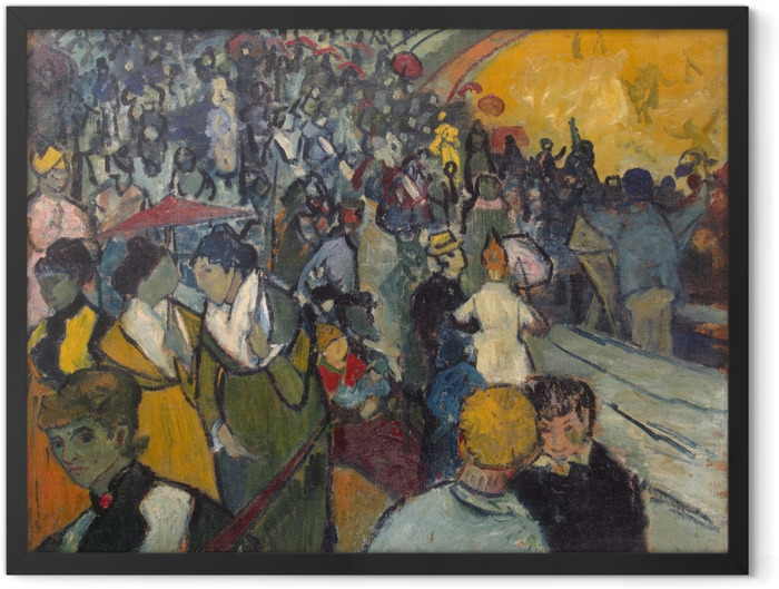 Gerahmtes Poster Vincent van Gogh - Les Arènes - Reproductions