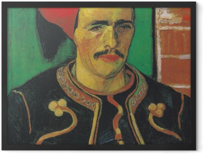 Poster en cadre Vincent van Gogh - le Zouave - Reproductions