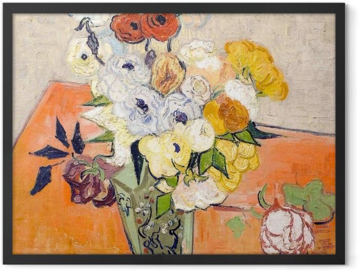 Poster en cadre Vincent van Gogh - Roses et anémones - Reproductions