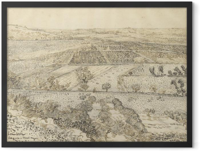 Gerahmtes Poster Vincent van Gogh - Die Ebene La Crau bei Arles, von Montmajour aus gesehen - Reproductions