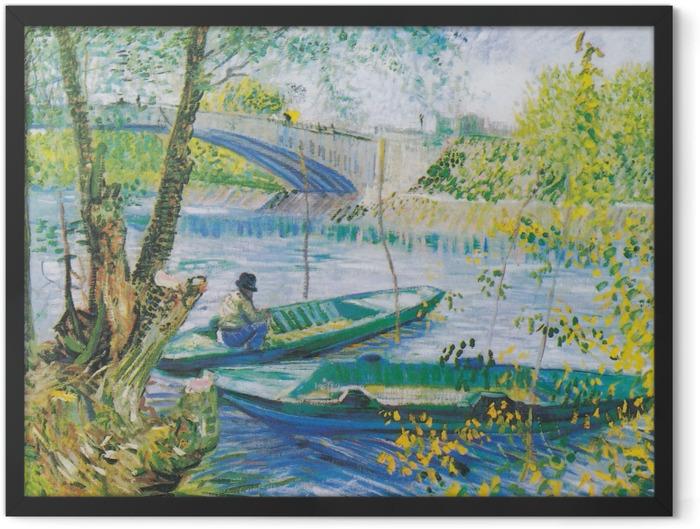 Gerahmtes Poster Vincent van Gogh - Angeln im Frühling - Reproductions