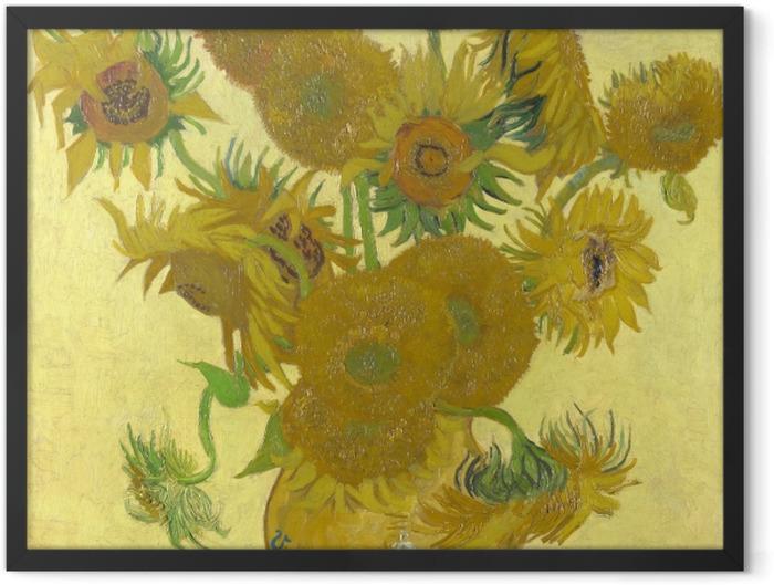 Gerahmtes Poster Vincent van Gogh - Sonnenblumen - Reproductions