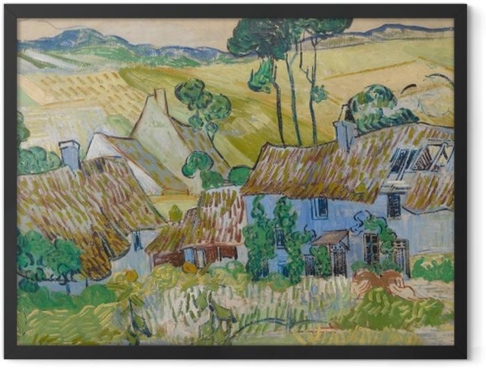 Poster en cadre Vincent van Gogh - Fermes près d'Auvers - Reproductions
