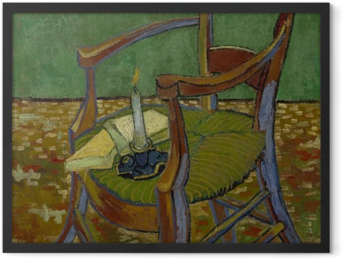 Poster en cadre Vincent van Gogh - Le Fauteuil de Gauguin - Reproductions