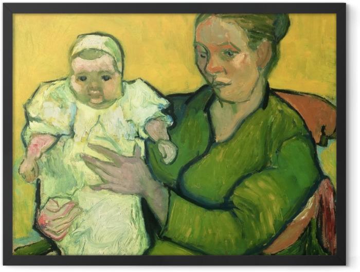 Gerahmtes Poster Vincent van Gogh - Madame Roulin mit ihrem Kind Marcelle - Reproductions