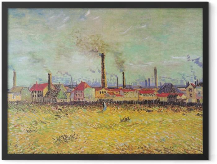 Poster en cadre Vincent van Gogh - Usines à Asnières - Reproductions