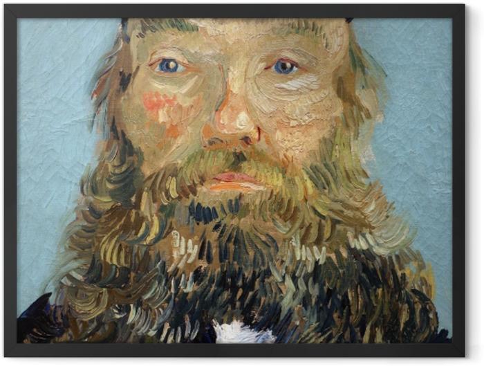 Poster en cadre Vincent van Gogh - Portrait de Joseph Roulin - Reproductions