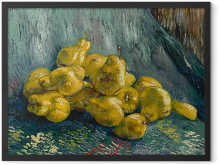 Poster en cadre Vincent van Gogh - Nature morte avec coings - Reproductions