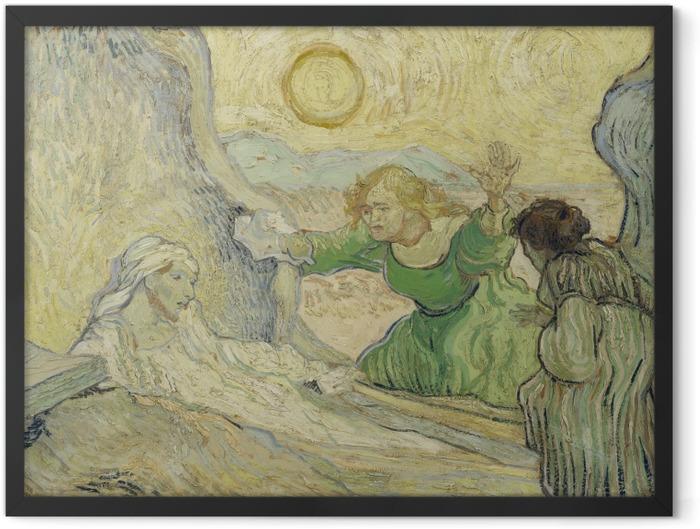 Plakat w ramie Vincent van Gogh - Wskrzeszenie Łazarza - Reproductions