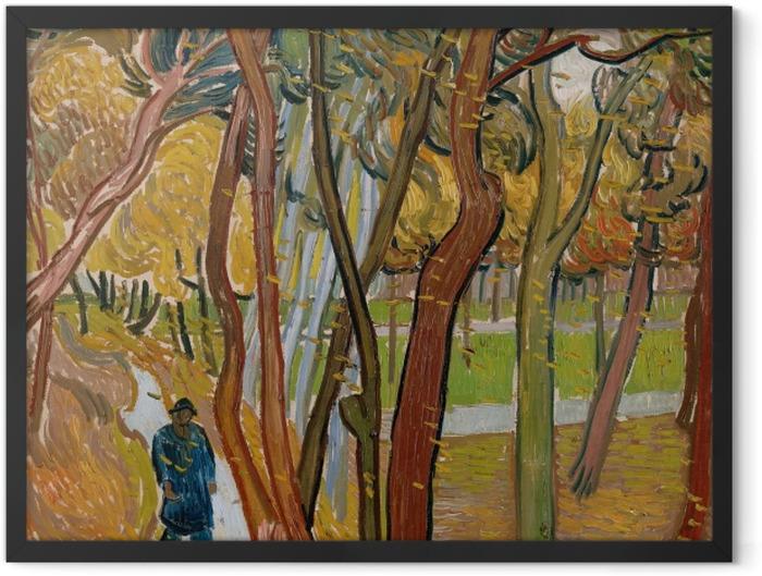 Gerahmtes Poster Vincent van Gogh - Fallende Blätter - Reproductions