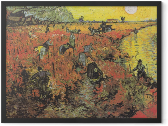 Plakat w ramie Vincent van Gogh - Czerwone winnice w Arles - Reproductions