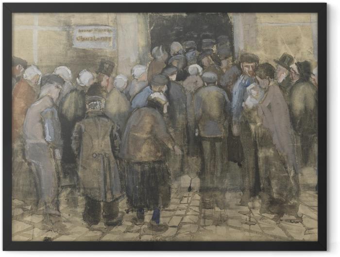 Plakat w ramie Vincent van Gogh - Ubodzy w kolejce po pieniądze - Reproductions
