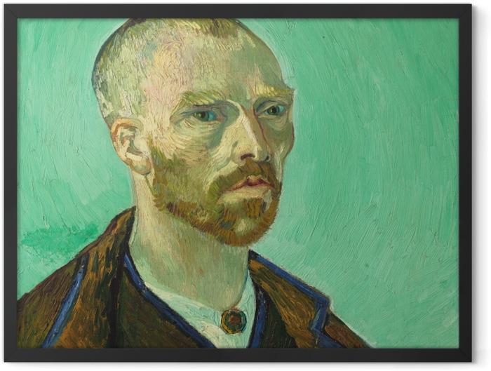 Gerahmtes Poster Vincent van Gogh - Selbstbildnis (Paul Gauguin gewidmet) - Reproductions