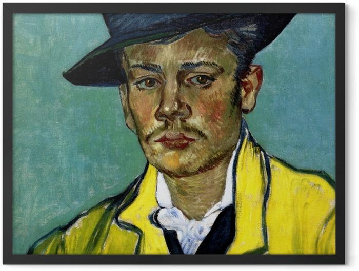 Plakat w ramie Vincent van Gogh - Portret młodego mężczyzny - Reproductions