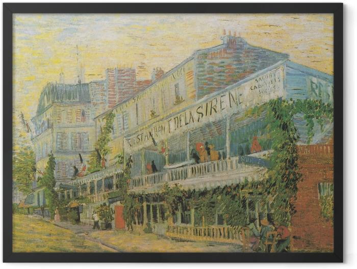 Gerahmtes Poster Vincent van Gogh - Das Restaurant De la Siréne in Asniéres - Reproductions