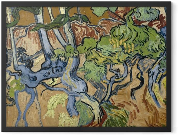 Gerahmtes Poster Vincent van Gogh - Baumwurzeln - Reproductions