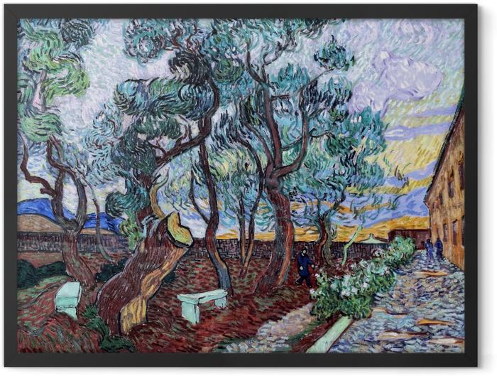 Poster en cadre Vincent van Gogh - Le jardin de l'hôpital St. Paul à Saint-Rémy - Reproductions