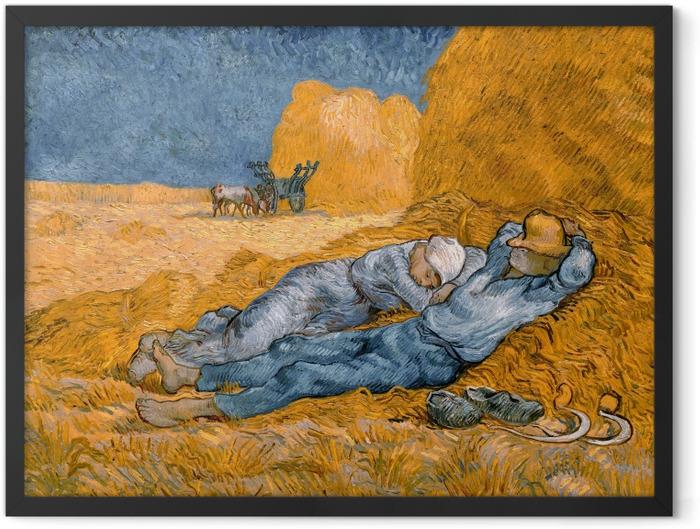 Poster en cadre Vincent van Gogh - La méridienne ou La sieste - Reproductions