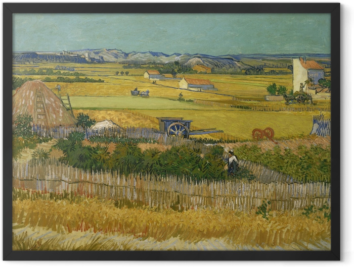 Plakat w ramie Vincent van Gogh - Żniwa - Reproductions