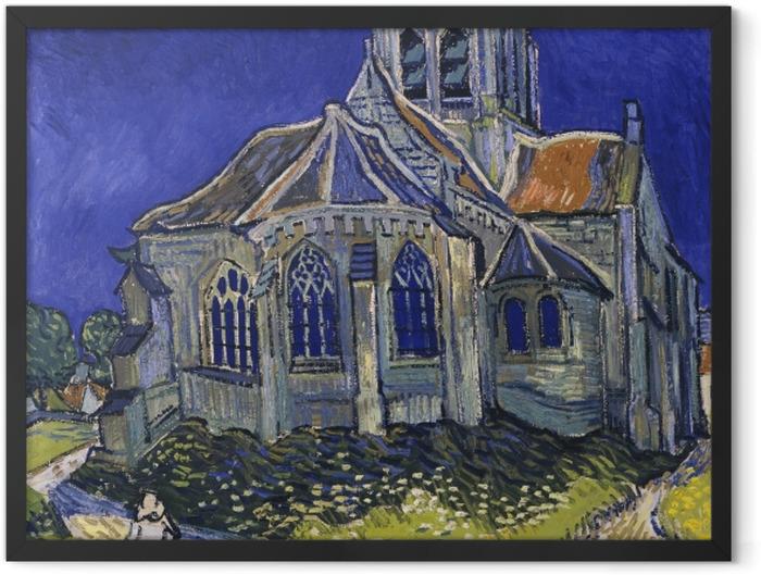 Poster en cadre Vincent van Gogh - L'Église d'Auvers-sur-Oise - Reproductions