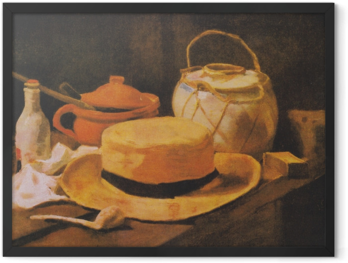 Plakat w ramie Vincent van Gogh - Martwa natura ze słomianym kapeluszem - Reproductions
