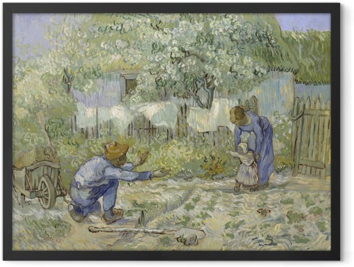 Poster en cadre Vincent van Gogh - Les premiers pas - Reproductions