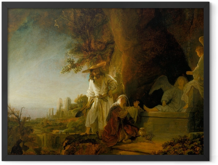 Plakat w ramie Rembrandt - Noli me tangere - Reprodukcje