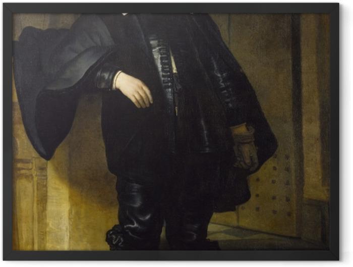 Gerahmtes Poster Rembrandt - Porträt des Andries de Graeff - Reproduktion
