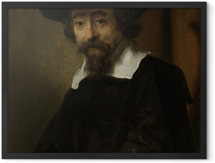 Plakat w ramie Rembrandt - Portret Dr. Ephraima Bueno - Reprodukcje