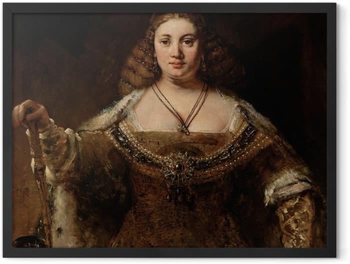 Gerahmtes Poster Rembrandt - Juno - Reproduktion