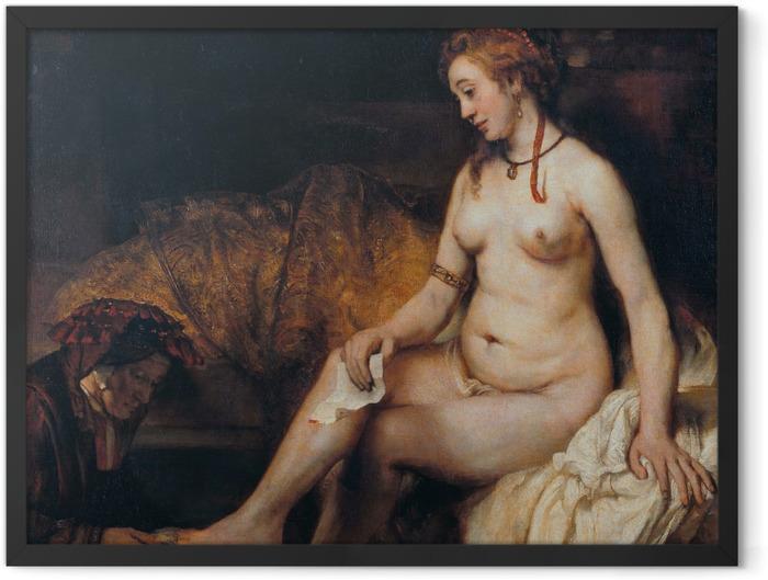 Poster en cadre Rembrandt - Bethsabée au bain - Reproductions