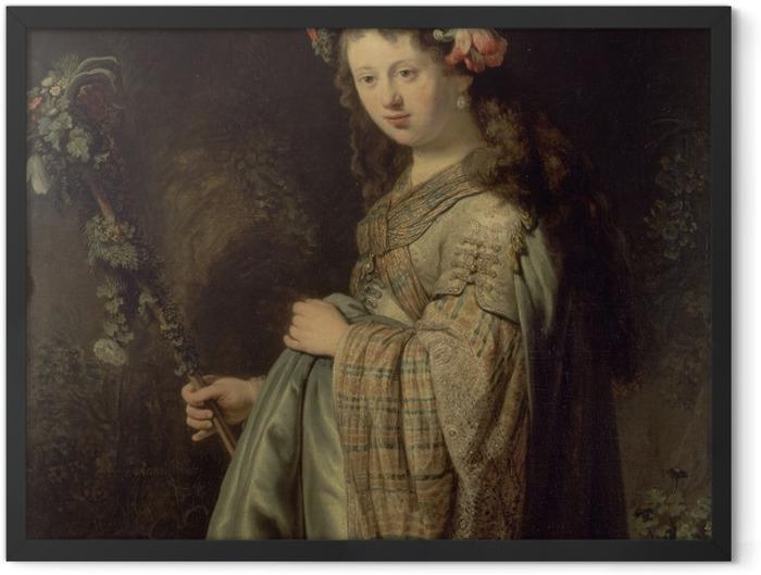 Poster en cadre Rembrandt - Saskia comme Flora - Reproductions