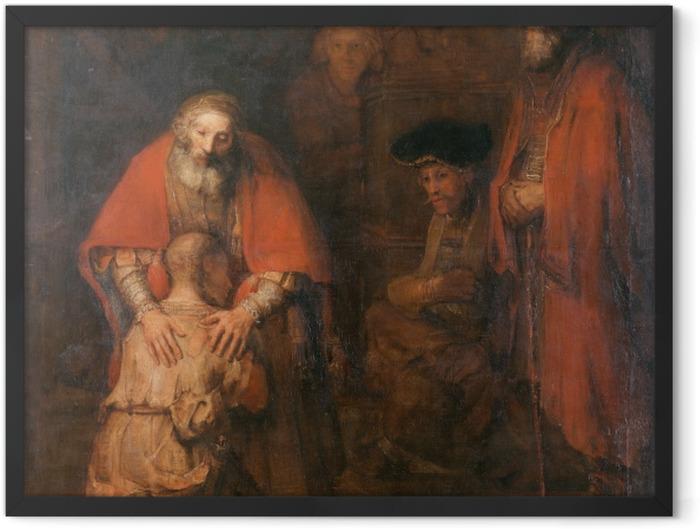 Gerahmtes Poster Rembrandt - Die Rückkehr des verlorenen Sohns - Reproduktion