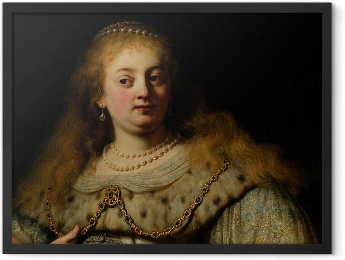 Gerahmtes Poster Rembrandt - Artemisia - Reproduktion