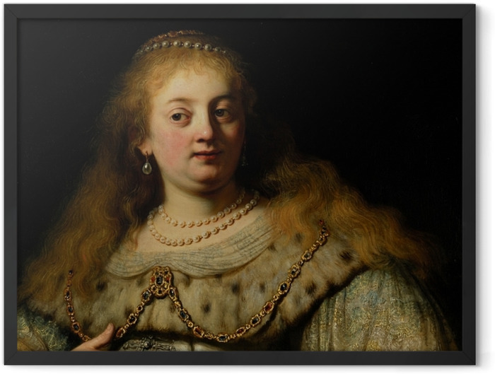Plakat w ramie Rembrandt - Artemizja - Reprodukcje