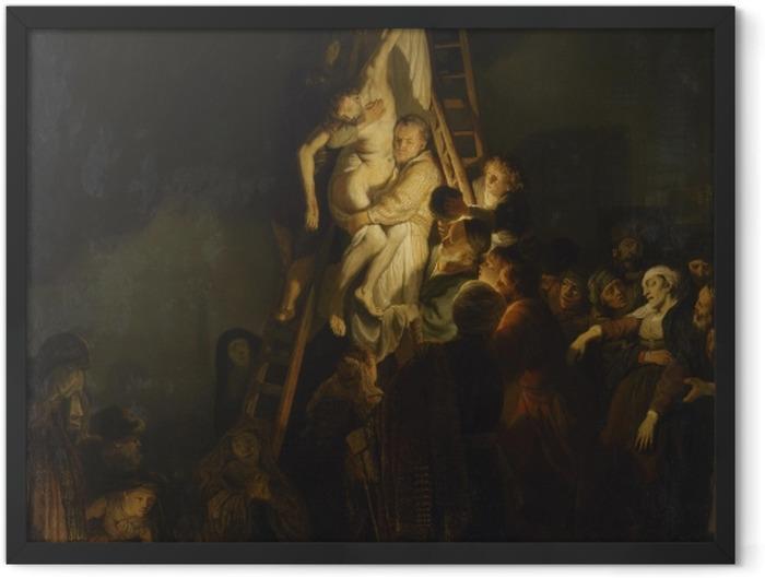 Gerahmtes Poster Rembrandt - Die Kreuzabnahme - Reproduktion
